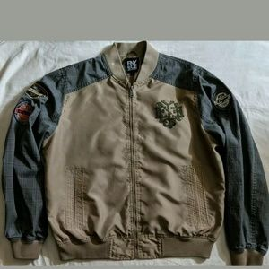 ENYCE Clothing Co Brown Decorative Zip Front XL